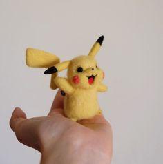 Cute Needle felting wool animal pokemon go Pikachu pet(Via @xuehan_cheng)