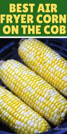 Juicy crunchy perfect air fryer corn on the cob recipe. Easy and ready under 10 … Juicy crunchy perfect air fryer corn on the cob recipe. Easy and ready under 10 minutes! I promise, this will become your go to… Continue Reading → Air Fryer Recipes Potatoes, Air Fryer Oven Recipes, Air Frier Recipes, Air Fryer Dinner Recipes, Air Fryer Recipes Vegetables, Recipes For Airfryer, Power Air Fryer Recipes, Toaster Oven Recipes, Air Fryer Baked Potato
