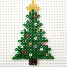 Christmas tree hama beads by madebyevren