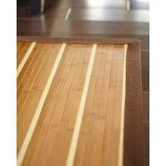 Striped Bamboo Area Rug, Variation Parent Beige