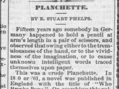 Planchette description, Nebraska Advertiser 15 Oct 1868 1