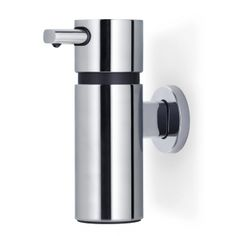 Shop the Blomus Aero Wall Mounted Large Chrome Soap Dispenser from UK's sports retailer. Minimalist Bathroom, Modern Minimalist, Wall Mounted Soap Dispenser, Plastic Trim, Soap Dispensers, Steel Wall, Lowes Home Improvements, Korn, Bathroom Interior