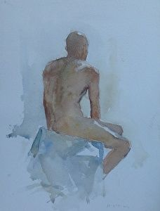 Jose by artist Kyle Keith. #watercolor figure painting found on the FASO Daily Art Show - http://dailyartshow.faso.com