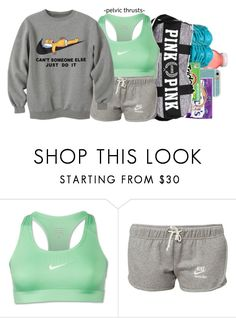 """""""Gym Time ."""" by elisethegun ❤ liked on Polyvore featuring NIKE"""