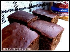 Love Reeses Peanut Butter cups?  Try this clean dessert instead!  I like to overdo it a little on the peanut butter in the recipe :)  Little b's healthy habits: Peanut Butter Chocolate Protein Bars