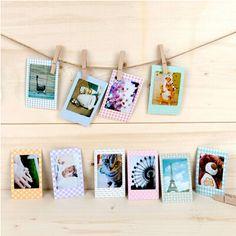 20 Pcs/set Lovely Print Paper Memo Sticker Scrapbook DIY Photo Albums Decorative Paper Instax Mini Film Stickers#pcs