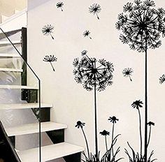 Tefamore Creative Dandelion Flower Removable Home Wall Decal  Tefamore £0.49