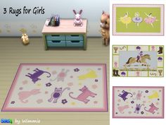 Just for your sims: Rugs for Girls • Sims 4 Downloads