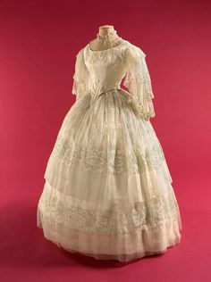 Wedding gown ca. 1855  From the Musee Galliera