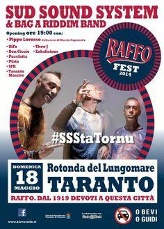 DOMENICA 18 MAGGIO ALLA ROTONDA DEL LUNGOMARE LA 10^ EDIZIONE DEL RAFFO FEST 2014 - Passione Rosso Blu