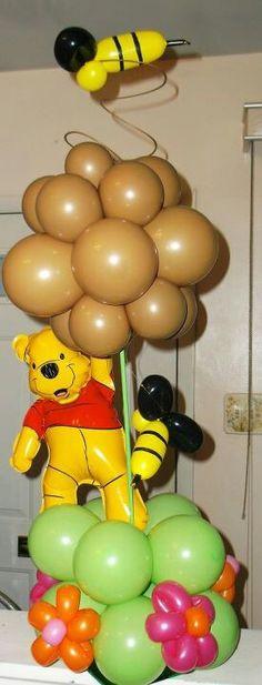 Pooh balloon centerpiece