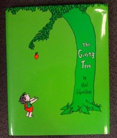 Is anyone able to read this book without crying? An excellent story of love & selflessness. THE GIVING TREE: Shel Silverstein Books For Boys, Childrens Books, Used Books, My Books, The Giving Tree, Shel Silverstein, Kids Corner, Book Collection, Book Publishing