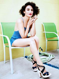 Jenny Slate photographed by Emily Shur for BUST Magazine