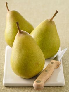 "Pears::Get the term ""pear-shaped"" out of your mind—this fruit is a part of a winning diet plan. According to Glassman, pears have high levels of pectin, which is known to promote weight loss. They also have 30 percent more potassium than apples and are a great energy booster. This summer, pack pears for an easy snack or try adding them to desserts and salads. #springforpears"