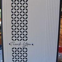 Memory Box: Piestra Tile;  Hero Arts:  C5549 Thank You