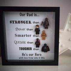 Star Wars Style Lego Daddy Frame - December disapatch