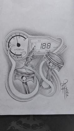 Tattoos Discover Photo by Racing Tattoos, Biker Tattoos, Motorcycle Tattoos, Motocross Tattoo, Neue Tattoos, Body Art Tattoos, Sleeve Tattoos, Motor Tattoo, Clock Tattoo Design