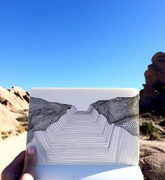 Excavating paths – Katy Ann Gilmore's drawing shown at Vasquez Rocks.