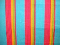 stripe fabric turquoise green orange - Google Search