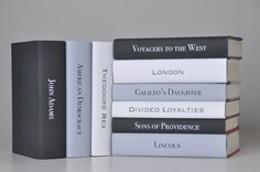 Black white and grey contemporary styled book jackets, Juniper Books