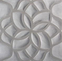 GRIS LOTUS ARTISTIC TILE    Inspired by nature, Ziva is a sculptural, three-dimensional stone tile designed with an undulating pattern