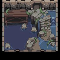 Title:Flooded Dungeon Pixel Artist:ToxicTurn