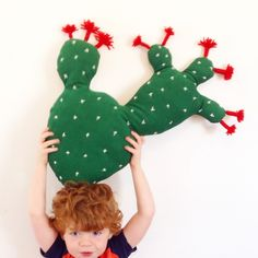 Image of Hug a cactus! Prickly Pear Cactus Cushion