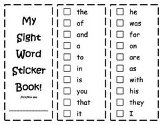 Sight Word Book ~ First 100 Fry Sight Words | Fry sight words ...
