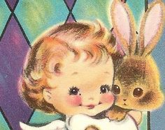 Vintage 1960s Easter Card UNUSED NORCROSS Angel Holds Bunny Church Window - Edit Listing - Etsy