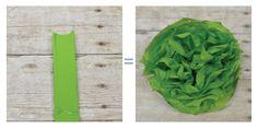 Tissue paper flower tutorial - concave petals