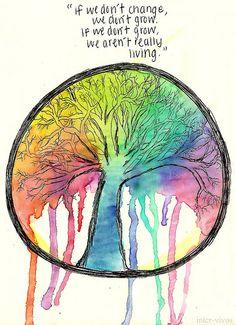 """if we don't change, we don't grow, if we don't grow, we aren't really living"""