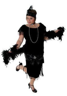 Deluxe Black  #PlusSize Flapper save 43% #freeShipping   http://www.planetgoldilocks.com/halloween/freeshipping SEE #halloweenCostumes .COM