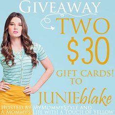 JUNIEblake Fashion Giveaway ONE DAY LEFT!!