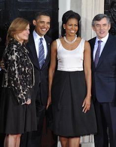 #michelle #obama #fashion #style #monotone #pearls