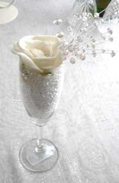 Champagne Glass Table Decoration