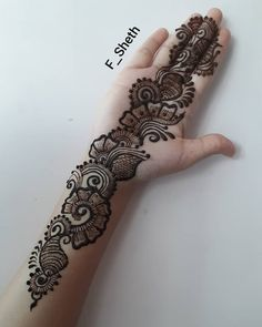ndo-Arabic Mehendi design: Latest Arabic Mehndi Design for Front Hand Latest Arabic Mehndi Designs, Stylish Mehndi Designs, Mehndi Designs Book, Mehndi Designs 2018, Mehndi Designs For Girls, Mehndi Design Photos, Mehndi Designs For Fingers, Dulhan Mehndi Designs, Henna Tattoo Designs