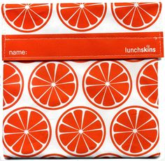 Lunchskins Reusable Sandwich Bags Tangerine