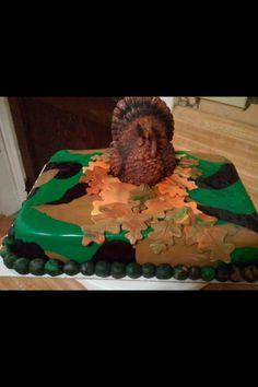 Turkey hunting cake I done