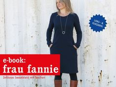 Nähanleitungen Mode - FrauFANNIE vielseitiges Sweatkleid, ebook - ein Designerstück von schnittreif bei DaWanda