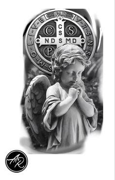 Greek Statues, Angel Statues, Jesus Tatoo, Pieta Statue, Kali Tattoo, Neck Tattoo For Guys, Statue Tattoo, Chicano Tattoos, Religious Tattoos