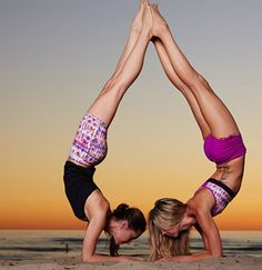 Amazing Yoga Post you should not Miss Practicing on a Day to Day Workout Join us @ Yoga Poses For Two, Cool Yoga Poses, Partner Yoga, Yoga For Two People, Yoga Inspiration, Pure Yoga, Beautiful Yoga Poses, Yoga Mode, Yoga Pictures