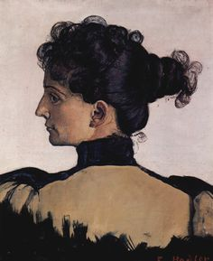 portrait of berthe jacques wife of the artist, 1894. // Ferdinand Hodler