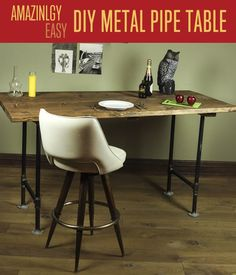 How to make rustic furniture with pipe legs? Check out our workbench plans and search for 100's of other woodworking projects & tutorials at DIYReady.com!