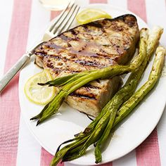 Tuna, salmon, snapper, and swordfish are best for the grill--their firm flesh holds together over the grate. Add an Asian flair when you add a teriyaki, honey, ginger, and garlic marinade.