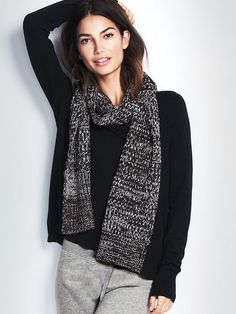 Get wrapped up! | Victoria's Secret Knit Scarf