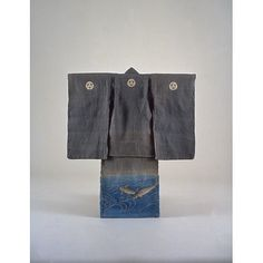 Boys  Kimono  with Carps in Flowing Water on Grey Ground. Meiji Period 19th c, Kyoto National Museum