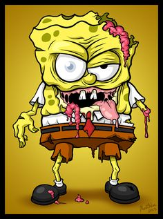 Image uploaded by xDeathDollx. Find images and videos about cartoon, creepy and spongebob on We Heart It - the app to get lost in what you love. Zombie Cartoon, Zombie Art, Cartoon Art, Cartoon Characters, Zombie Monster, Desenho Tattoo, Anime, Horror Art, Graffiti Art