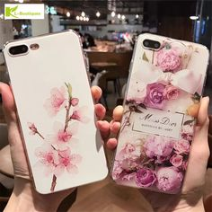 Luxury Flower Painted 3D Relief For iPhone 6 6S Plus Case Beauty Soft Silicone Back Cover for iPhone 7 7Plus Fashion Phone Cases #Affiliate