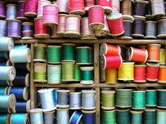 pretty spools of thread