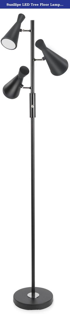 Sunllipe LED Tree Floor Lamp with Three Lights-60 Inches Contemporary Metal Tripod Lights with Built-in LED Lights (Black). About Sunllipe: Sunllipe dedicated to the R&D, designing, producing and marketing of LED lighting product. Have constanly developed series of products with more human care, integrate of energy-saving, environment protection, fashion, simple, classic, traditional and high art. Welcome to our store to choose your favorite product. LED Floor Lamps and Lights for Living...